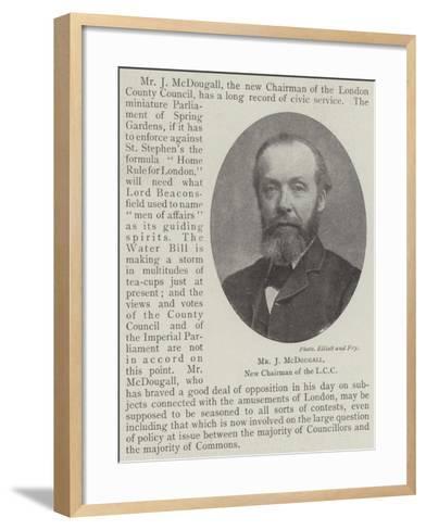 Mr J Mcdougall, New Chairman of the LCC--Framed Art Print