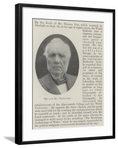 The Late Mr Thomas Gee--Framed Art Print