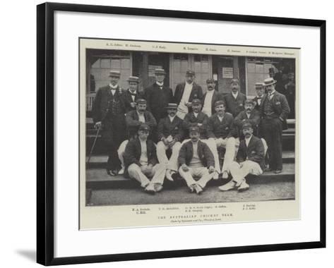 The Australian Cricket Team--Framed Art Print