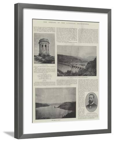 The Opening of the Liverpool Waterworks--Framed Art Print