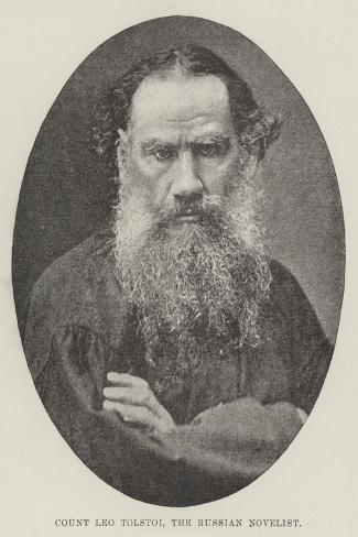 Count Leo Tolstoi, the Russian Novelist--Stretched Canvas Print