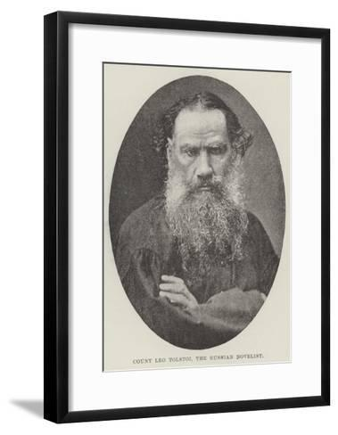 Count Leo Tolstoi, the Russian Novelist--Framed Art Print
