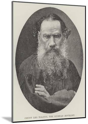 Count Leo Tolstoi, the Russian Novelist--Mounted Giclee Print