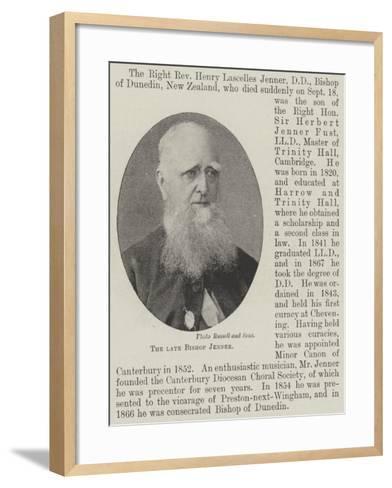 The Late Bishop Jenner--Framed Art Print