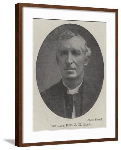 The Late Reverend J H Rose--Framed Art Print