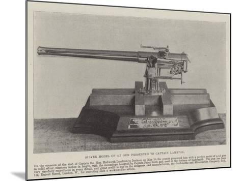Silver Model of 4.7 Gun Presented to Captain Lambton--Mounted Giclee Print
