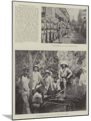 The Rebellion in Cuba--Mounted Giclee Print
