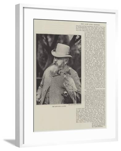 The Late Lord Lilford--Framed Art Print