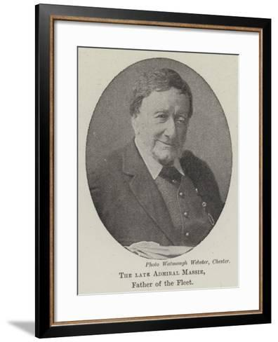 The Late Admiral Massie, Father of the Fleet--Framed Art Print