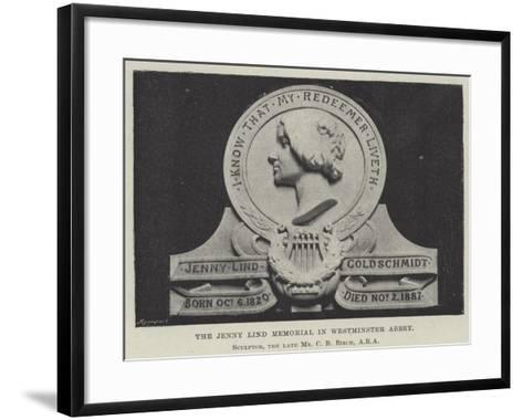 The Jenny Lind Memorial in Westminster Abbey--Framed Art Print