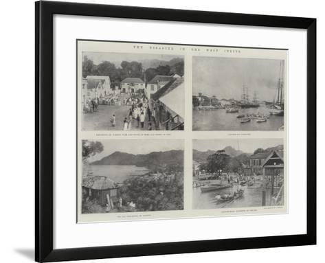 The Disaster in the West Indies--Framed Art Print