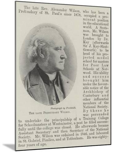 The Late Prebendary Wilson--Mounted Giclee Print
