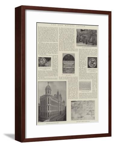 The New Record Office--Framed Art Print