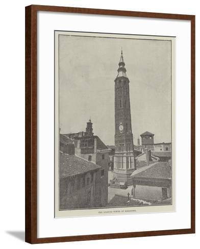 The Leaning Tower of Saragossa--Framed Art Print