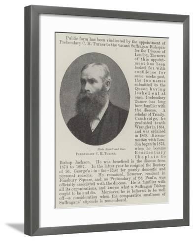 Prebendary C H Turner--Framed Art Print