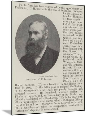 Prebendary C H Turner--Mounted Giclee Print