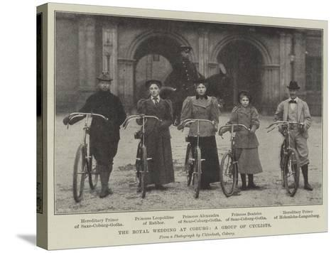The Royal Wedding at Coburg, a Group of Cyclists--Stretched Canvas Print