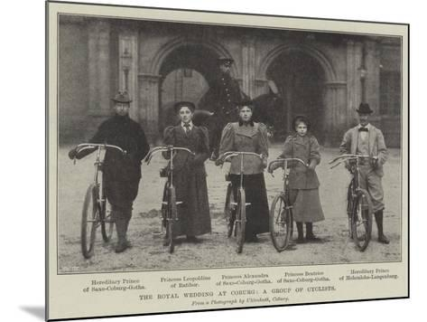 The Royal Wedding at Coburg, a Group of Cyclists--Mounted Giclee Print