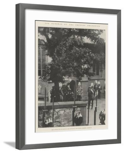 The Funeral of the Empress Frederick--Framed Art Print