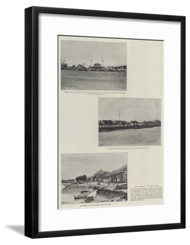 The Position at Niuchuang--Framed Art Print