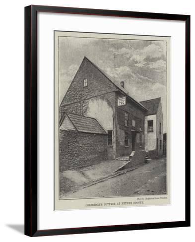 Coleridge's Cottage at Nether Stowey--Framed Art Print