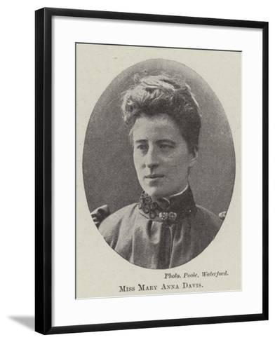 Miss Mary Anna Davis--Framed Art Print