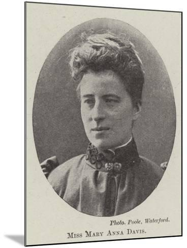 Miss Mary Anna Davis--Mounted Giclee Print