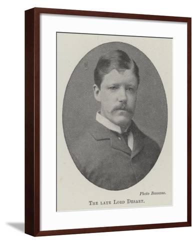 The Late Lord Desart--Framed Art Print