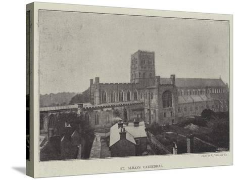 St Albans Cathedral--Stretched Canvas Print