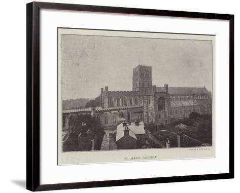 St Albans Cathedral--Framed Art Print