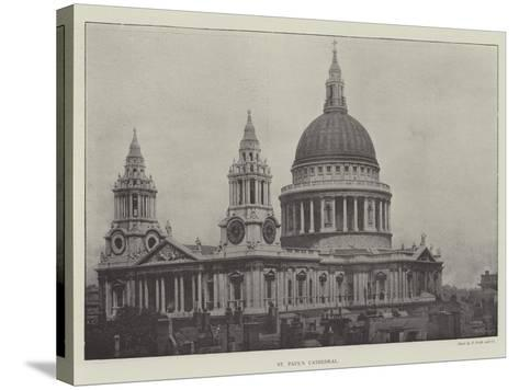 St Paul's Cathedral--Stretched Canvas Print