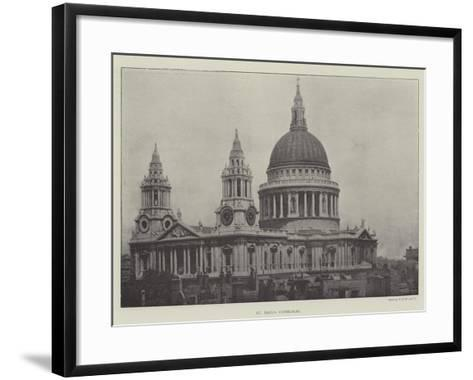 St Paul's Cathedral--Framed Art Print