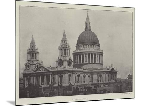 St Paul's Cathedral--Mounted Giclee Print