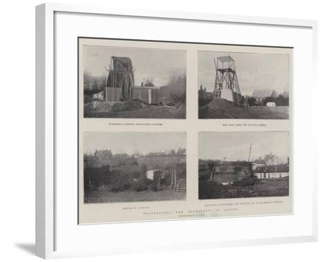 Prospecting for Petroleum in Sussex--Framed Art Print