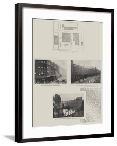 Great Fire in Sunderland--Framed Art Print