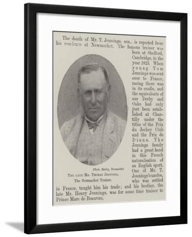 The Late Mr Thomas Jennings, the Newmarket Trainer--Framed Art Print