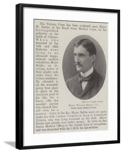 Major William Babtie, Vc, Royal Army Medical Corps--Framed Art Print