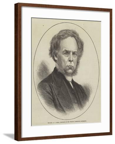The Reverend G T Perks, President of the Wesleyan Methodist Conference--Framed Art Print