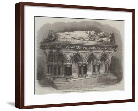 Monument to Lady John Manners in the Mortuary Chapel of Rawsley Church--Framed Art Print