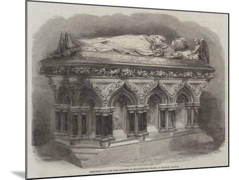 Monument to Lady John Manners in the Mortuary Chapel of Rawsley Church--Mounted Giclee Print