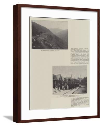 The Snaefell Mountain Railway--Framed Art Print