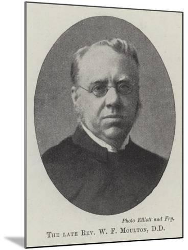 The Late Reverend W F Moulton--Mounted Giclee Print