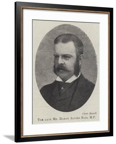The Late Mr Hamar Alfred Bass--Framed Art Print