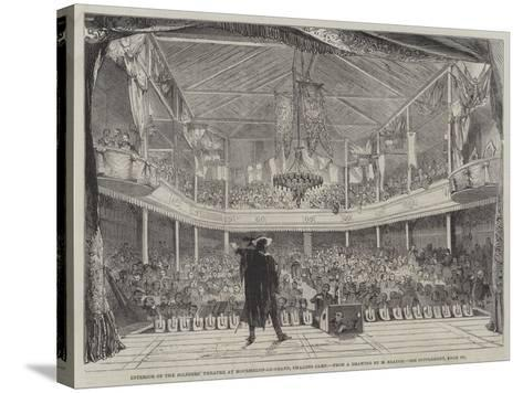Interior of the Soldiers' Theatre at Mourmelon-Le-Grand, Chalons Camp--Stretched Canvas Print