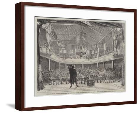 Interior of the Soldiers' Theatre at Mourmelon-Le-Grand, Chalons Camp--Framed Art Print