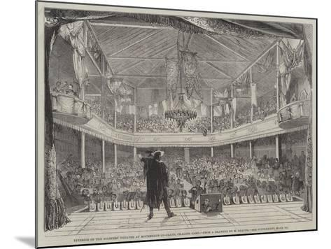 Interior of the Soldiers' Theatre at Mourmelon-Le-Grand, Chalons Camp--Mounted Giclee Print
