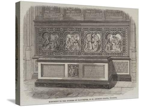 Monument to the Duchess of Gloucester, in St George's Chapel, Windsor--Stretched Canvas Print