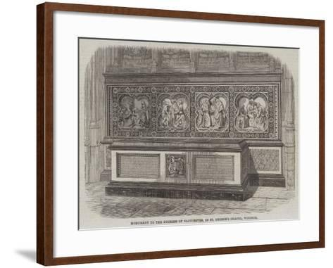 Monument to the Duchess of Gloucester, in St George's Chapel, Windsor--Framed Art Print