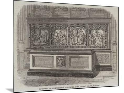 Monument to the Duchess of Gloucester, in St George's Chapel, Windsor--Mounted Giclee Print
