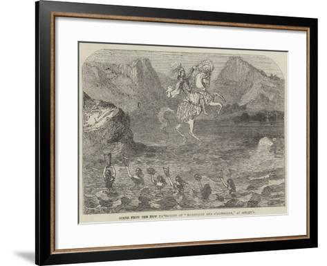 Scene from the New Pantomime of Harlequin and O'Donoghue, at Astley'S--Framed Art Print